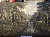 Made up Angkorwat, Angkorwat Painting 100x200cm - Cambodia Arts and Crafts