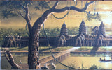 Angkorwat Painting, Aerial view of Angkorwat  50 x 150cm - Cambodia Arts and Crafts