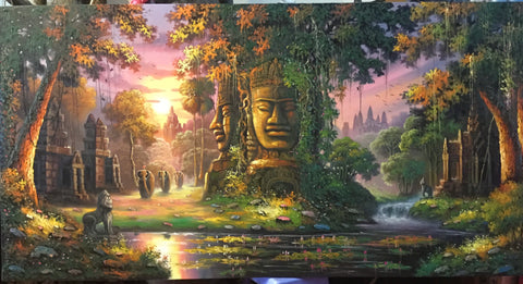angkorwat oil painting