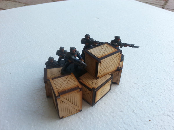 Wooden crate x6 - 28mm