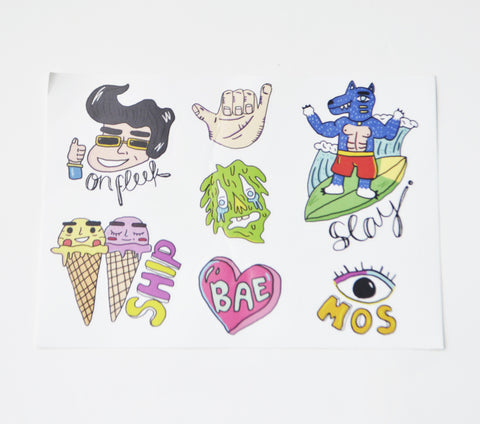 Internet Slang Sticker Sheet