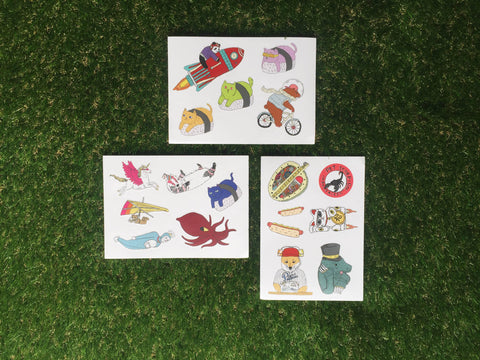 Perco-Creature Sticker Sheets