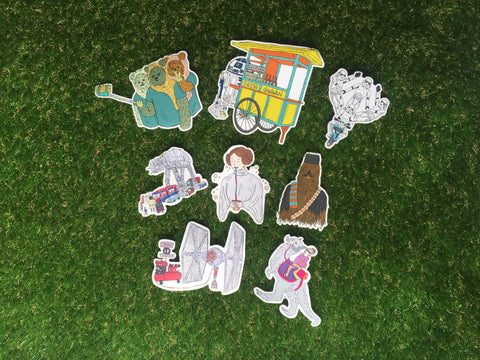 Star Wars Jakarta Cut Out Stickers