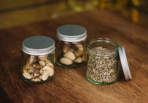 Nuts Reused Jar Zero Waste