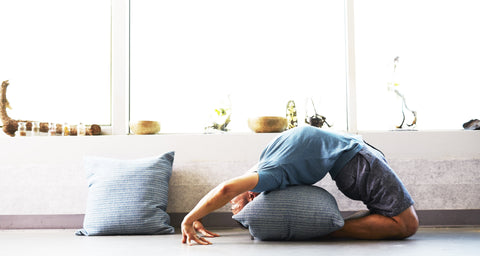 Person doing Yoga at home