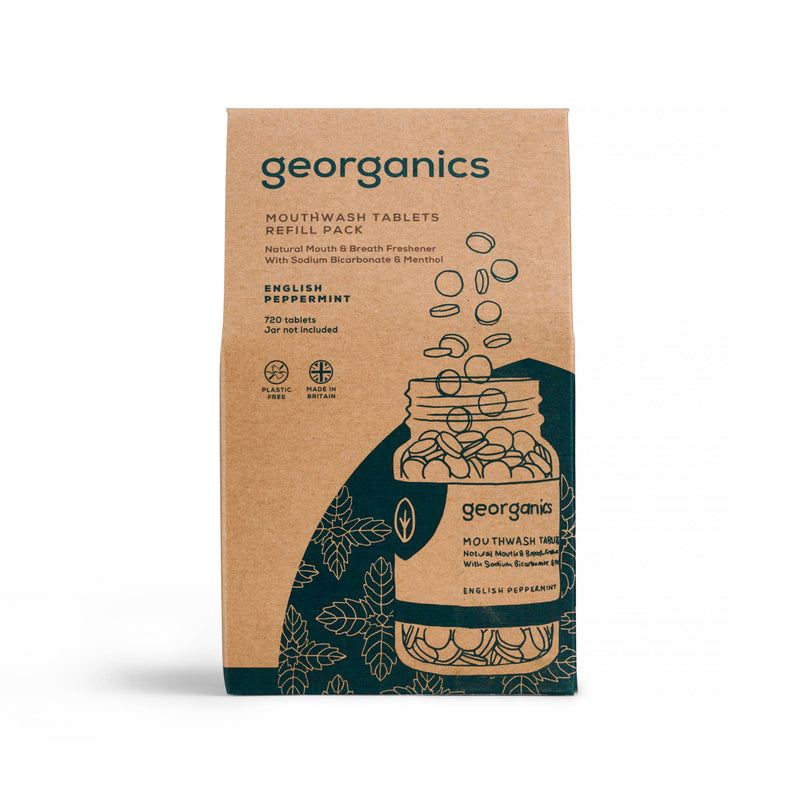Mouthwash Tablets - English Peppermint - Georganics Oral Care