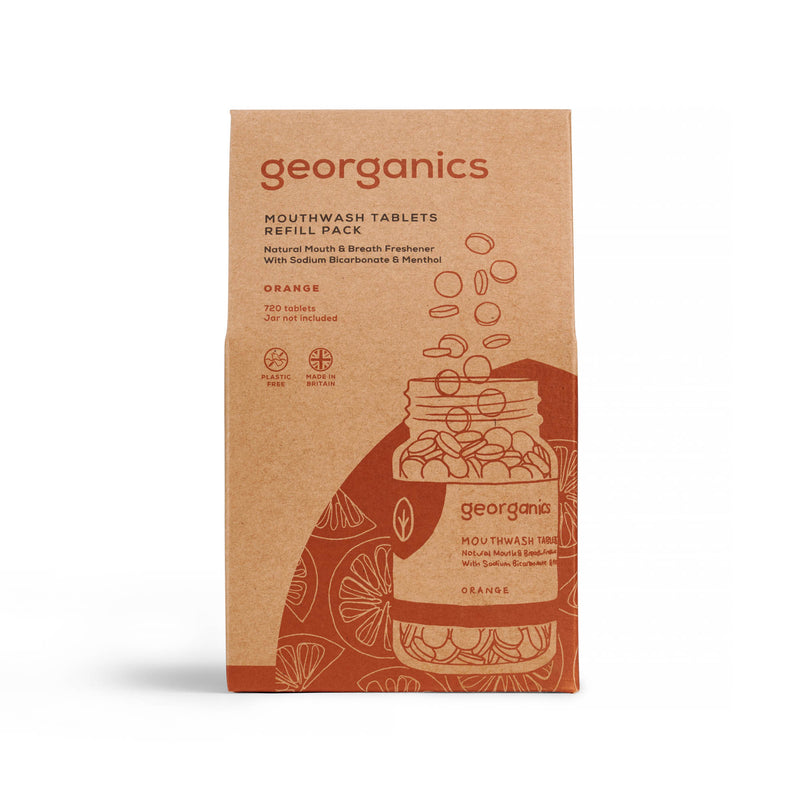 Mouthwash Tablets - Orange - Georganics Oral Care
