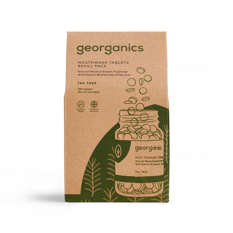 Mouthwash Tablets - Tea Tree - Georganics Oral Care