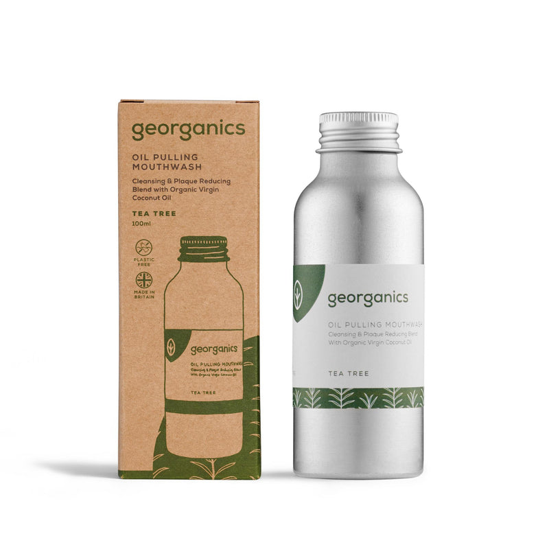 Oil Pulling Mouthwash - Tea Tree - Georganics Oral Care