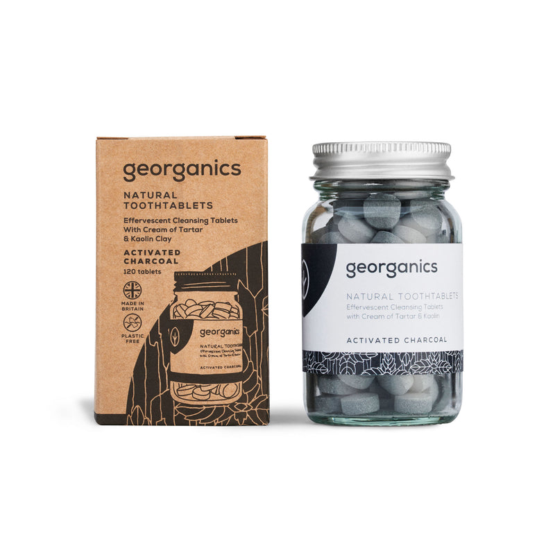 Natural Toothtablets - Activated Charcoal - Georganics Oral Care