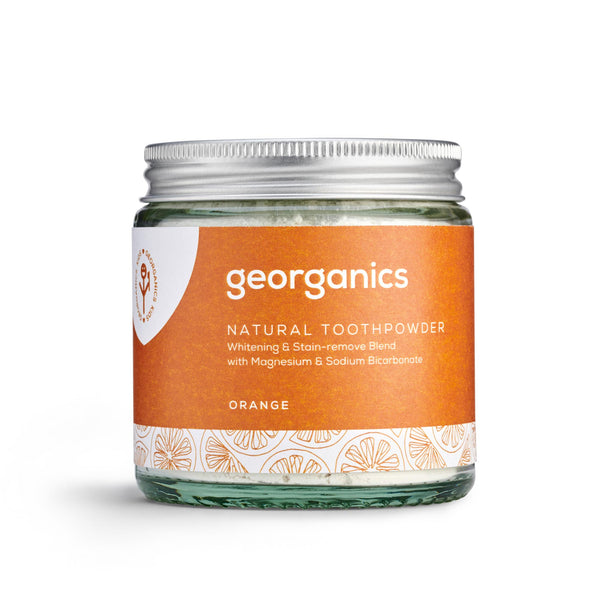 Natural Toothpowder - Orange - Georganics Oral Care