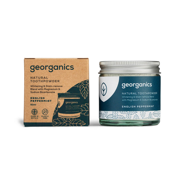 Natural Toothpowder - English Peppermint - Georganics Oral Care