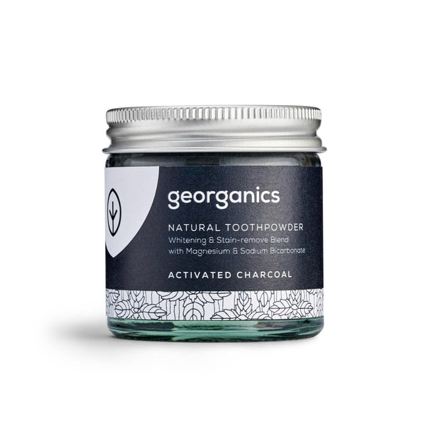 Natural Toothpowder - Activated Charcoal - Georganics Oral Care