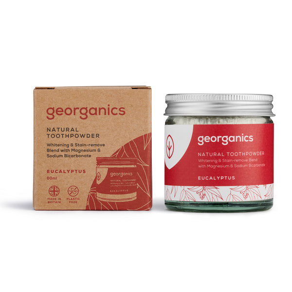 Natural Toothpowder - Eucalyptus - Georganics Oral Care