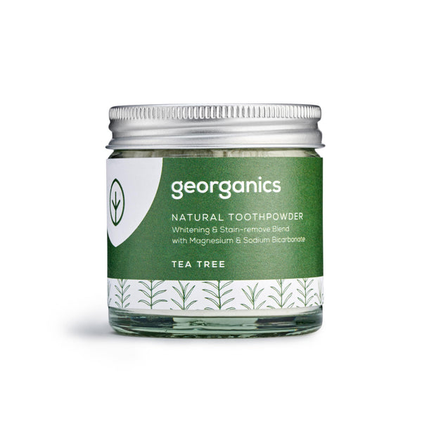 Natural Toothpowder - Tea Tree - Georganics Oral Care