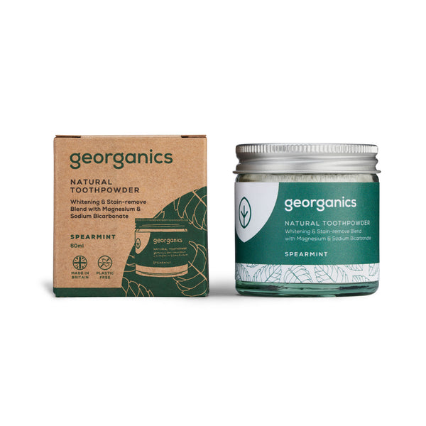 Natural Toothpowder - Spearmint - Georganics Oral Care