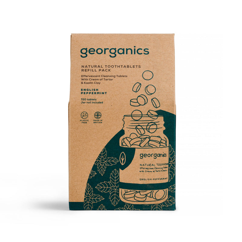 Natural Toothtablets - English Peppermint - Georganics Oral Care