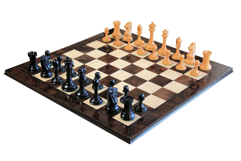 staunton ebony chess pieces