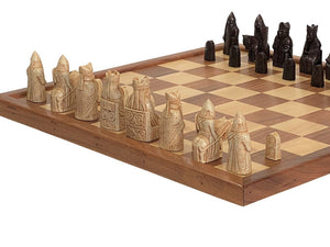 Isle of Lewis Chessmen & Solid Wooden Board -  CHESSMAZE STORE UK