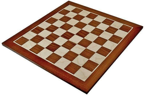 "17.75"" Mahogany & Sycamore Chess Board -  CHESSMAZE STORE UK"