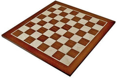 19 Inch Mahogany & Sycamore Chess Board -  CHESSMAZE STORE UK