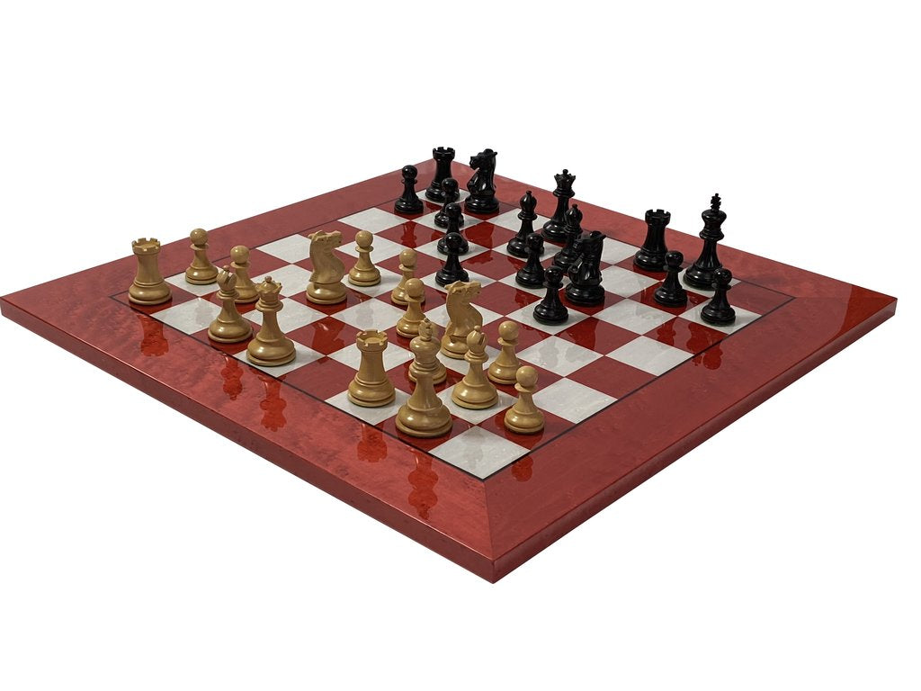 Red Erable Italian Elite Chess Set -  CHESSMAZE STORE UK