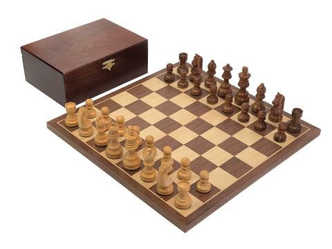 "14"" Walnut Classic Acacia Chess Set -  CHESSMAZE STORE UK"