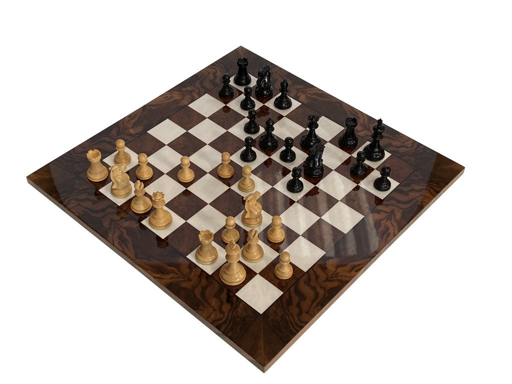 Elite Walnut Burl Luxury Chess Set -  CHESSMAZE STORE UK