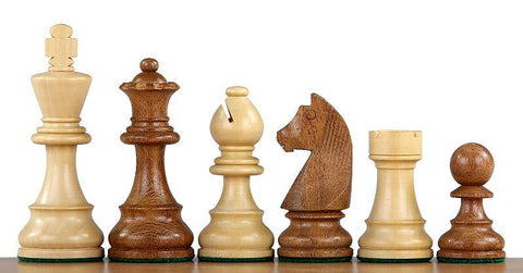 "3"" Club Classic Boxwood & Acacia Chess Pieces -  CHESSMAZE STORE UK"