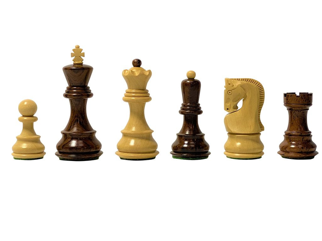 Zagreb Deluxe Anjan Boxwood Chess Pieces -  CHESSMAZE STORE UK