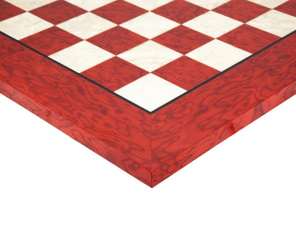 "20"" Italian Deluxe Red Erable Chess Board -  CHESSMAZE STORE UK"