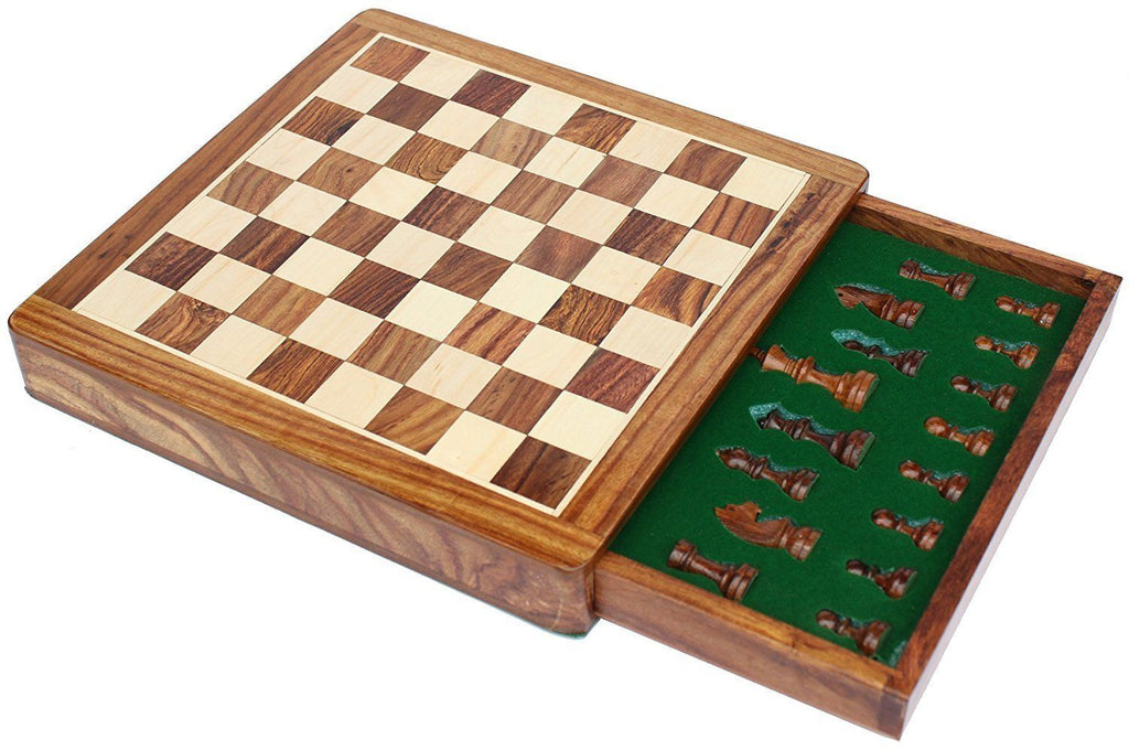 "12"" Magnetic Push Drawer Chess Set -  CHESSMAZE STORE UK"