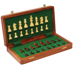 "10"" Magnetic Wooden Travel Chess Set -  CHESSMAZE STORE UK"