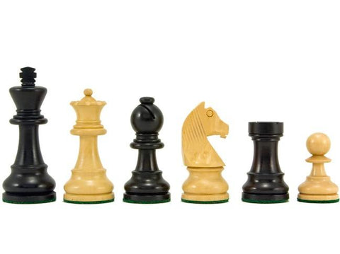 RC Classic Ebonised & Boxwood Chess Pieces