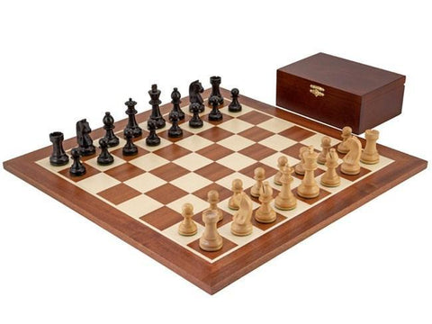Ebonised Classic Chess Set Combination