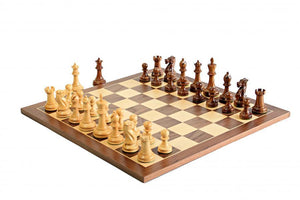 Executive Sheesham and Walnut Chess Set -  CHESSMAZE STORE UK