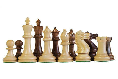 "3.0"" Executive Acacia Boxwood Chess Pieces -  CHESSMAZE STORE UK"