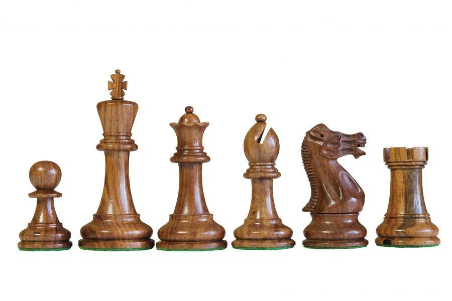 "3.75"" Executive Acacia Boxwood Chess Pieces -  CHESSMAZE STORE UK"