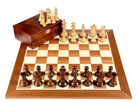 Fierce Knight Shisham Mahogany Chess Set