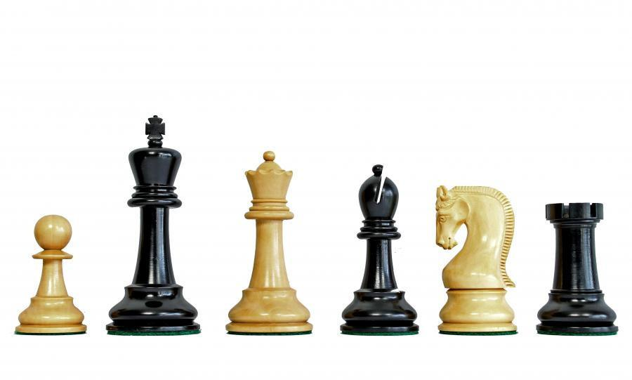 Leningrad Boxwood & Black Chess Pieces -  CHESSMAZE STORE UK