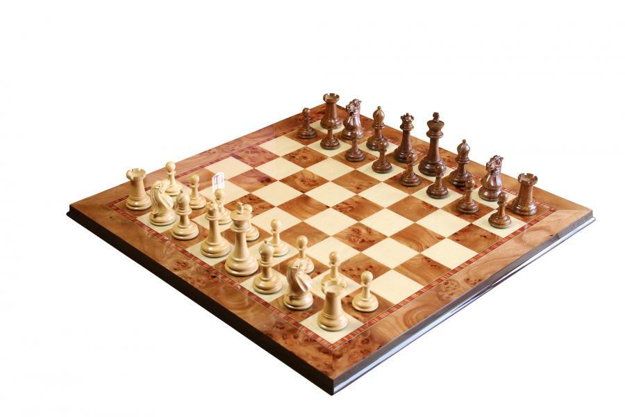 Morphy Rosewood Chess Set & Elm Chess Board -  CHESSMAZE STORE UK