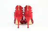 Beyonce Red Suede 100mm (780)