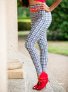 Yoga Leggings black and white check
