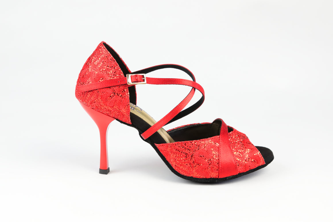 Claire Red Lace 80mm (698)