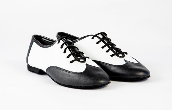 Jazz Shoes Vernice Nero Bianco (J06)
