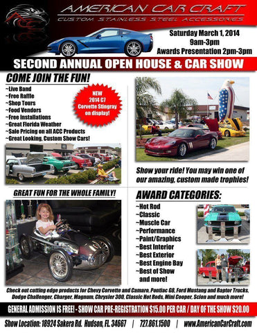 ACC Show Info Posted on Blacktop Rebels - 2nd Annual American Car Craft Open House & Car Show March 1, 2014