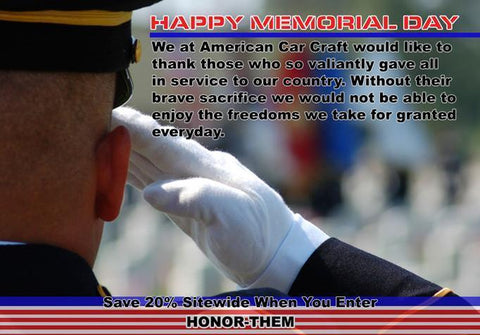 Wishing you a Safe and Happy Memorial Day