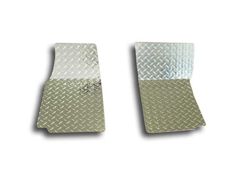 1968-1982 C3 Corvette - Diamond Plate Floor Mats 2Pc Polished American Car Craft