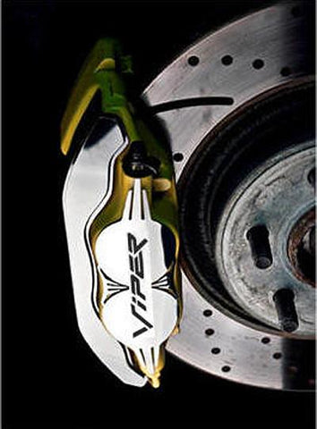 "1992-2002 Dodge Viper - Brake Caliper Covers with ""VIPER"" script Front 2Pc Polished"