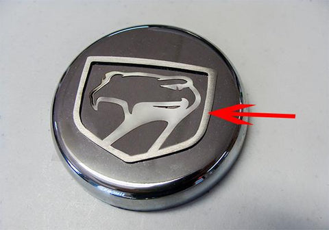1992-2010 Dodge Viper - Sneaky Pete Emblem 1Pc | Polished Stainless Steel